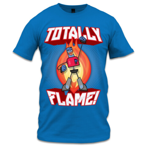 "Ballpoint ""Totally Flame"" T Shirt - Full Colour - Mukpuddy"